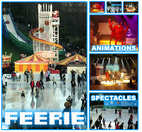 animations sur glace, spectacle sur glace, pleins feux ice